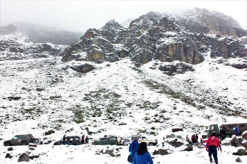 Zero point sikkim snow
