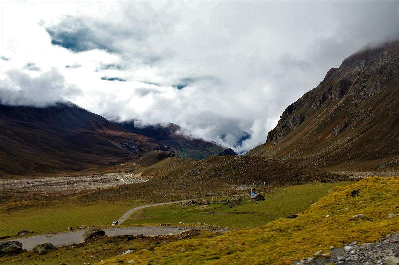 amazing landscape on Zero point sikkim route