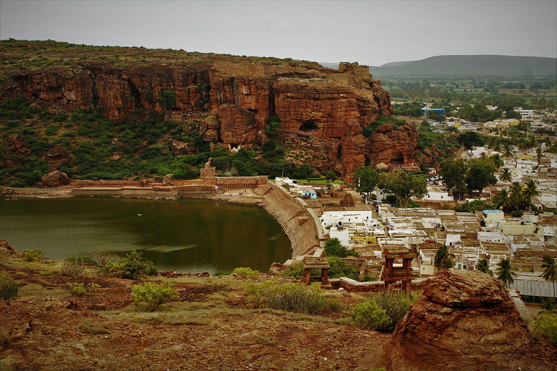 Agasthya Tirtha Lake Badami caves temple Karnataka