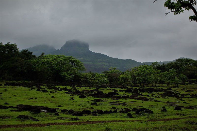 Breathtaking view Rajmachi Fort trek