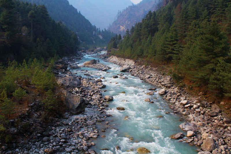 Dudh kosi river Everest Base Camp trek