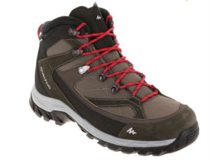 Forclaz 100 High Men Hiking Shoes BrownRed essential travel items
