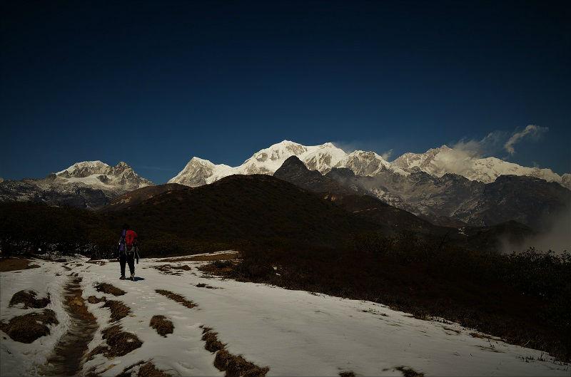 Goechala trek route Yuksom Sikkim