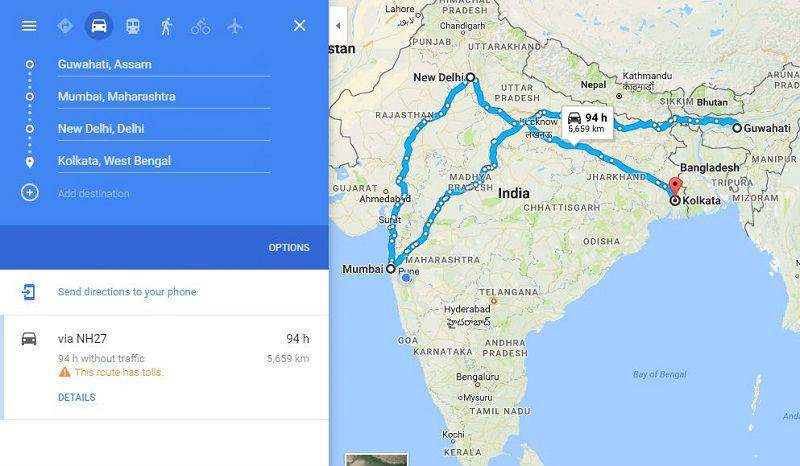 How to reach Guwahati Assam
