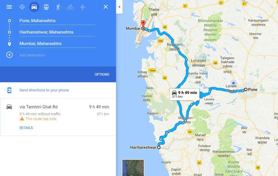 How to reach Hariharehwar Beach from Pune and Mumbai