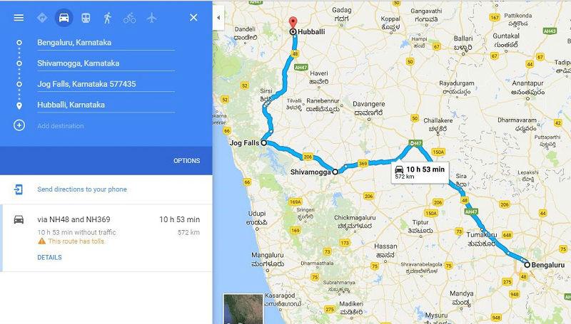 How to reach Jog Falls Karnataka