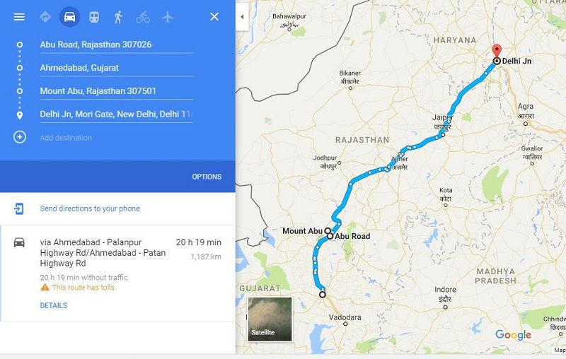 How to reach Mount Abu Rajasthan
