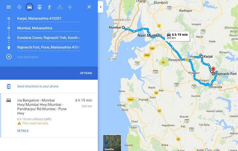 How to reach Rajmachi Fort Trek from Mumbai