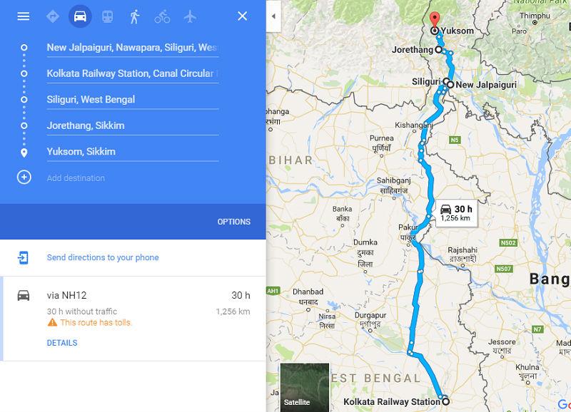 How to reach Yuksom Sikkim