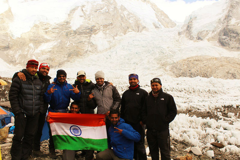Indian army Everest Base Camp trek