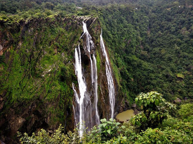 Jog falls karnataka side view