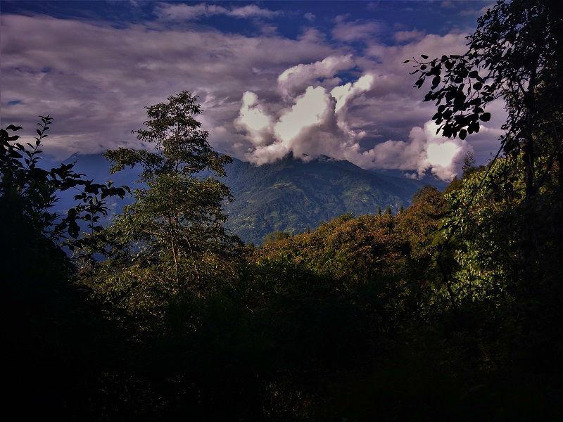Landscape view Pelling Sikkim