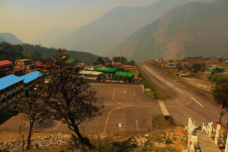 Lukla airport 2880 m Everest Base Camp trek