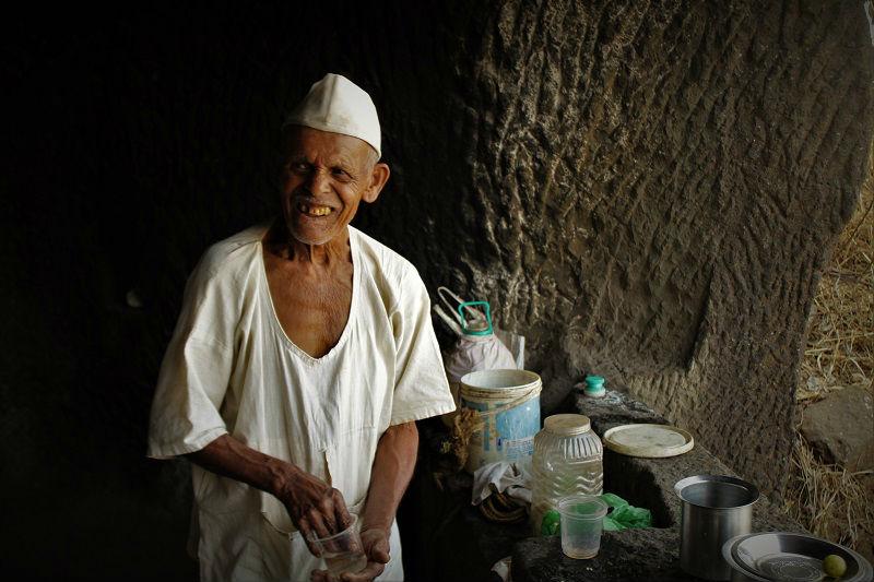 Old man at Rajmachi Fort