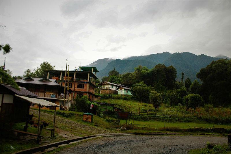 On way to Helipad Yuksom Sikkim