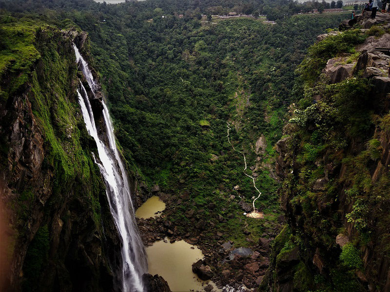 Opposite view Jog Falls Karnataka