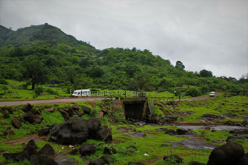 Small bridge at Rajmachi fort Trek
