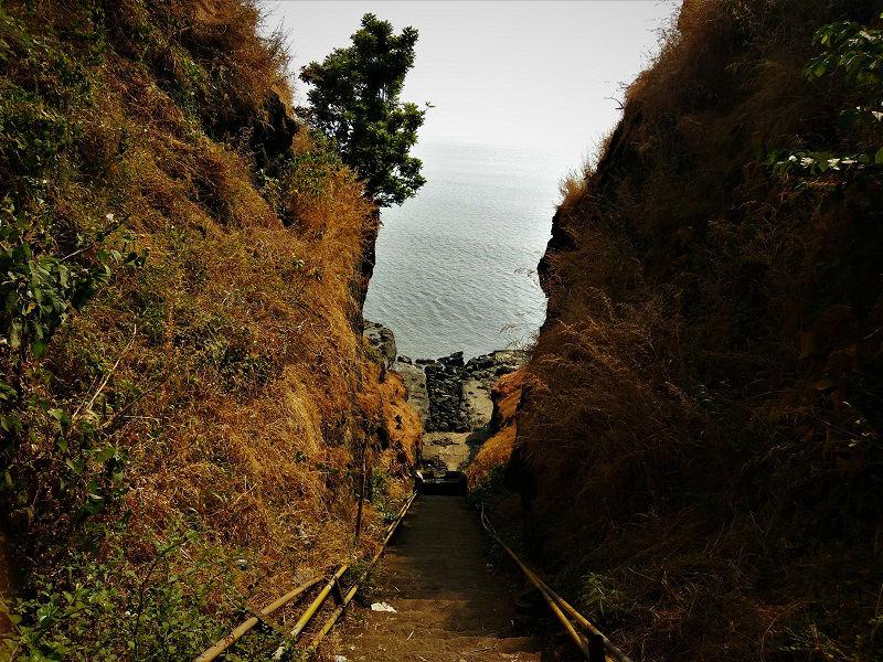 Stairway at Harihareshwar Beach