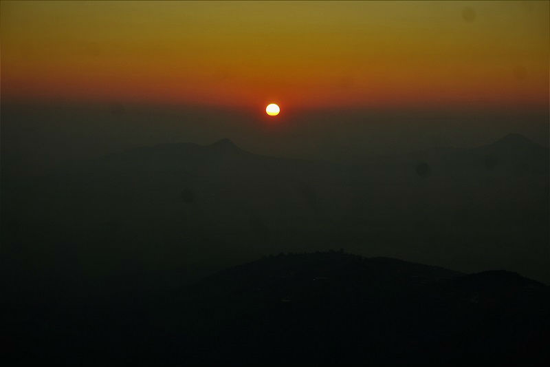 Sunrise view from Lohagad Fort near Pune Mumbai