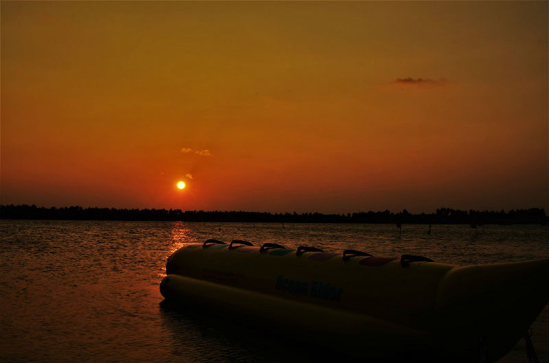 Sunset at Paradise Beach Puducherry