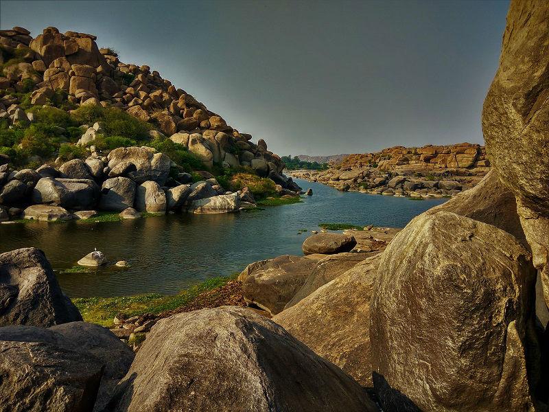 Tungabhadra river Hampi Karnataka
