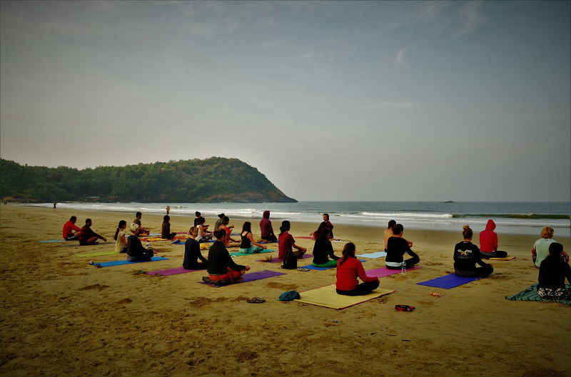 Yoga time at Gokarna Karnataka
