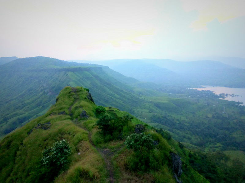breathtaking View from Sajjangad Fort Satara