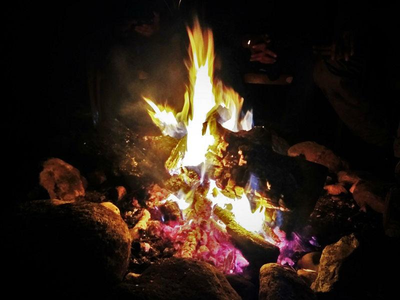 camp fire Kasol Himachal