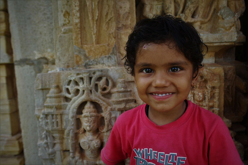 cute kid at Chittorgarh Rajasthan