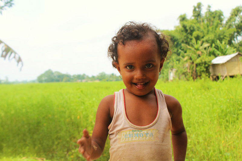 cute kid majuli river island assam