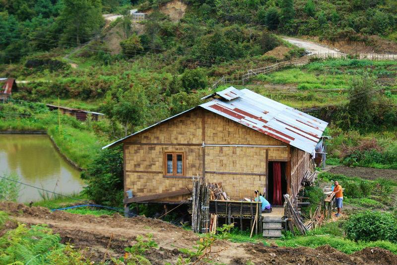 houses at Ziro Valley Arunachal Pradesh