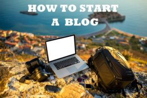 start a blogging website