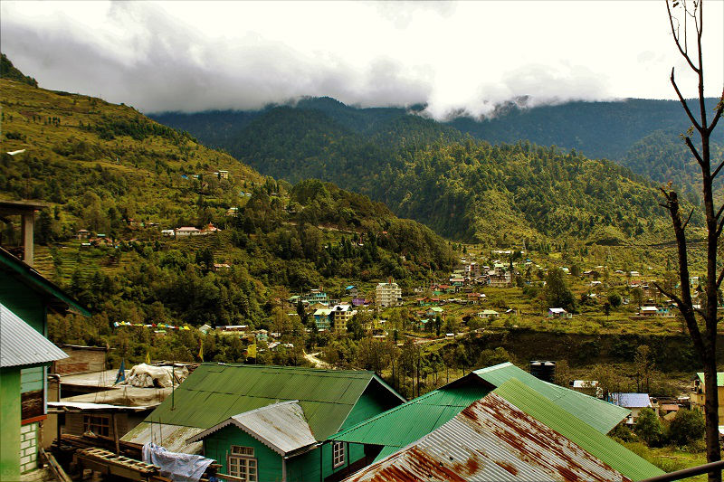 lachung city Zero point sikkim route