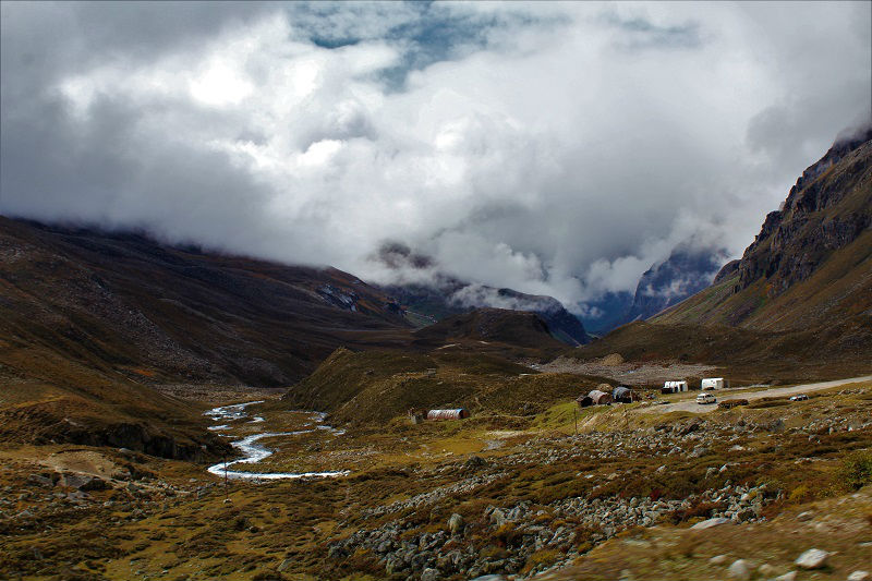 landscape on way to Zero point sikkim