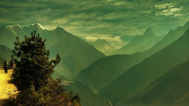 on way tyengboche Everest Base Camp trek