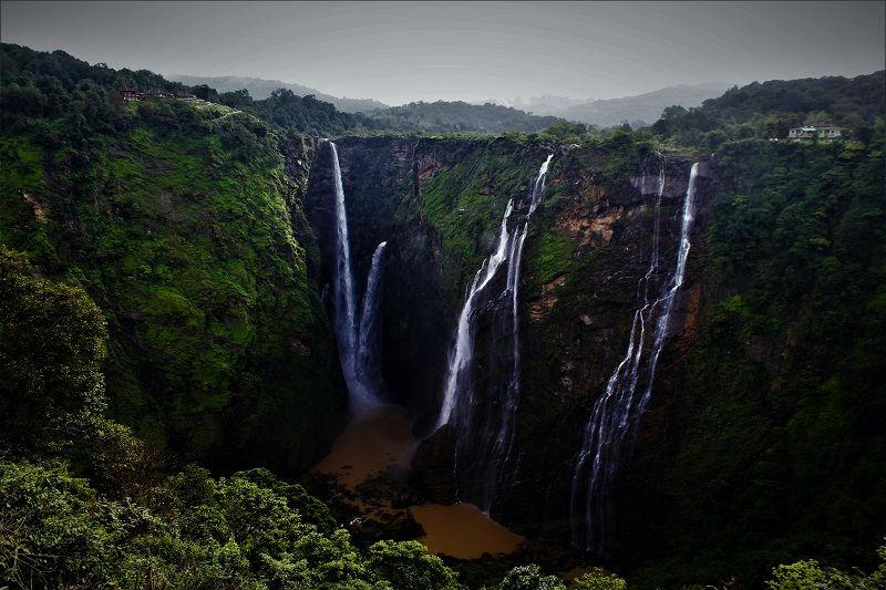 pouring waterfall Jog Falls Karnataka