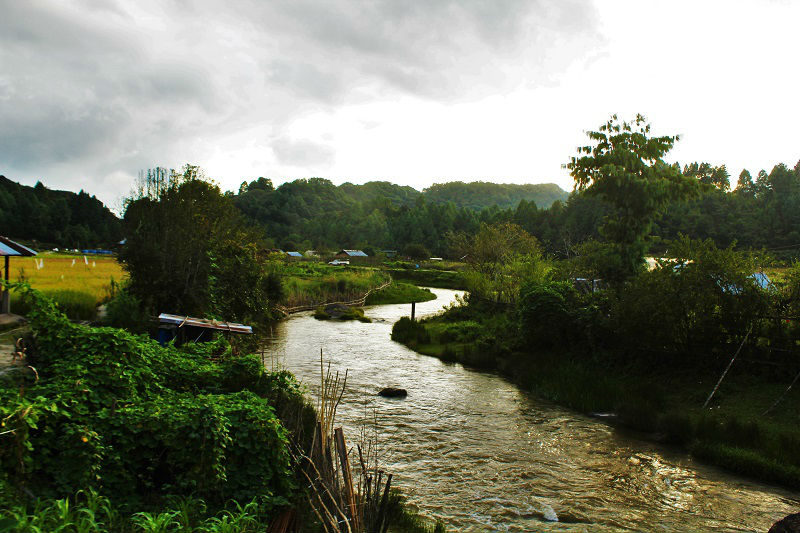 river flowing in Ziro Valley Arunachal Pradesh