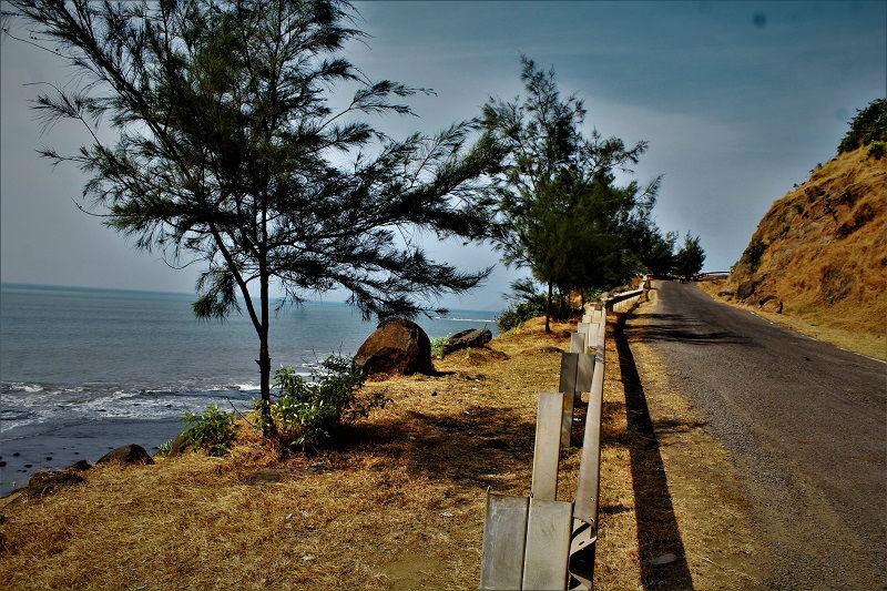 route from Aravi Beach to Diveagar Beach