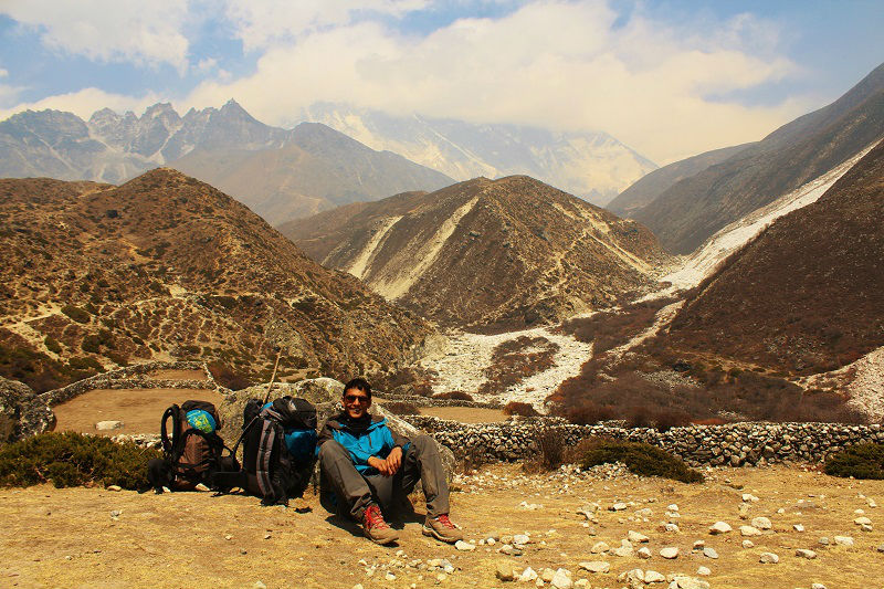 tired Everest Base Camp trek