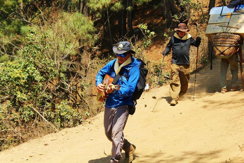 trekkers at Everest Base Camp trek