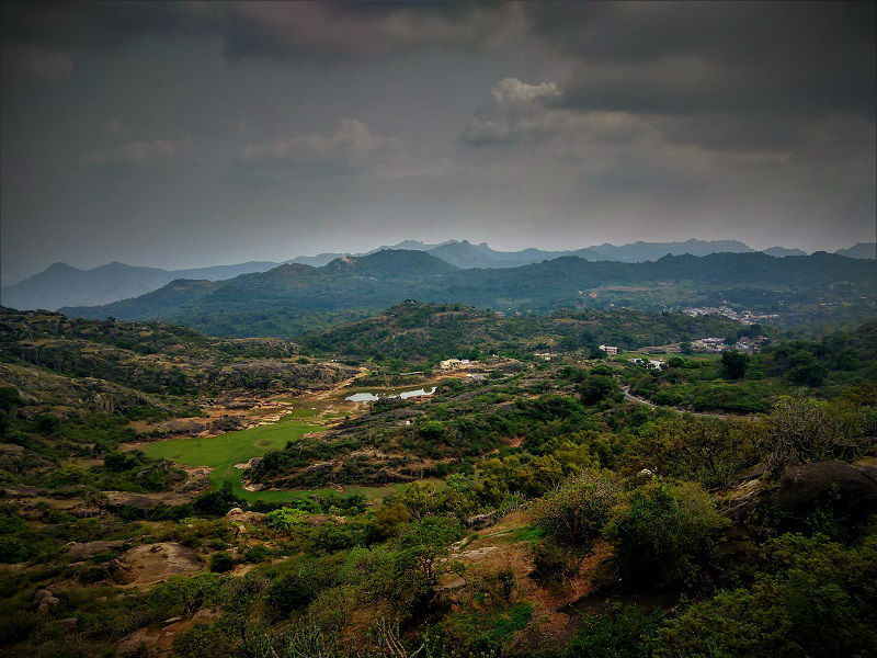 view from Guru Shikhar Mount Abu Rajasthan