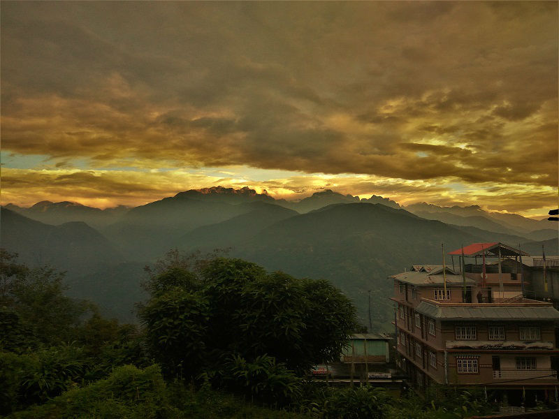 view from ladhakh guest house Pelling Sikkim