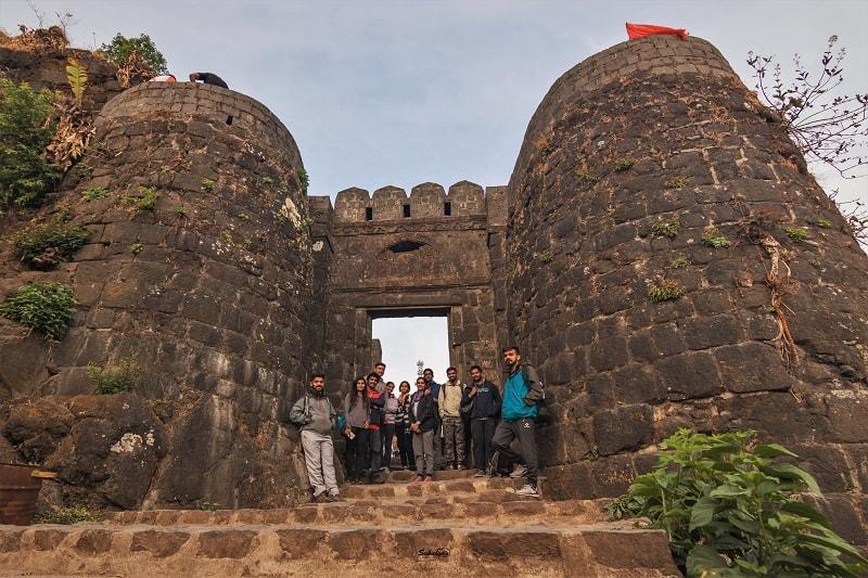 11 of us after completing Katraj to Sinhgad Night Trek