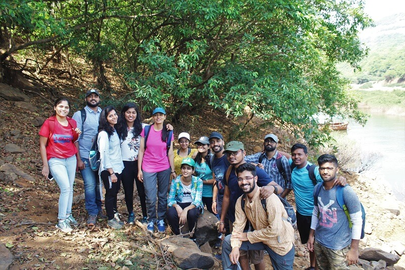 15 trekkers for Vasota Fort Jungle Trek