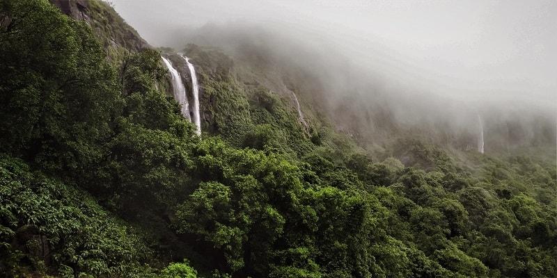 2 stream Waterfall Tamhini Ghat
