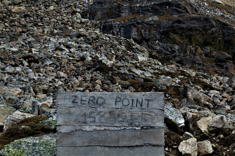 Zero point sikkim 15855 feet