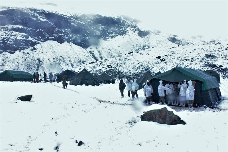 Zero point sikkim covered with snow