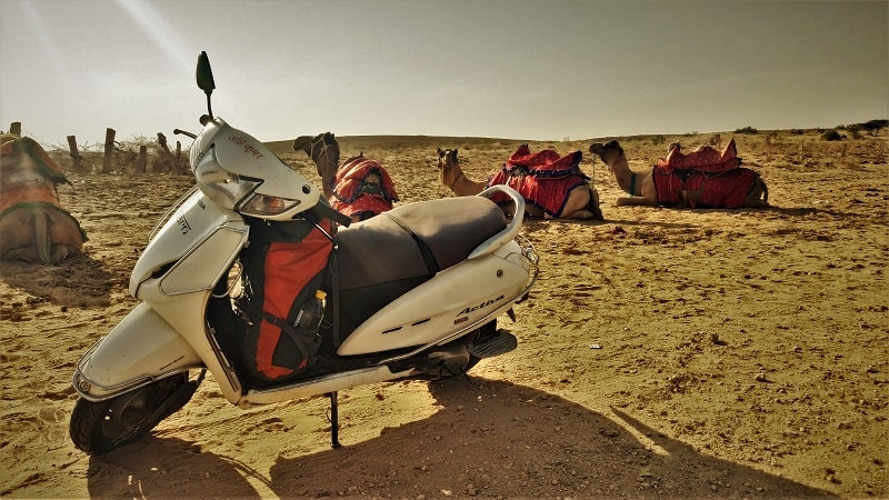 Activa on rent from Royal Bikes Jaisalmer