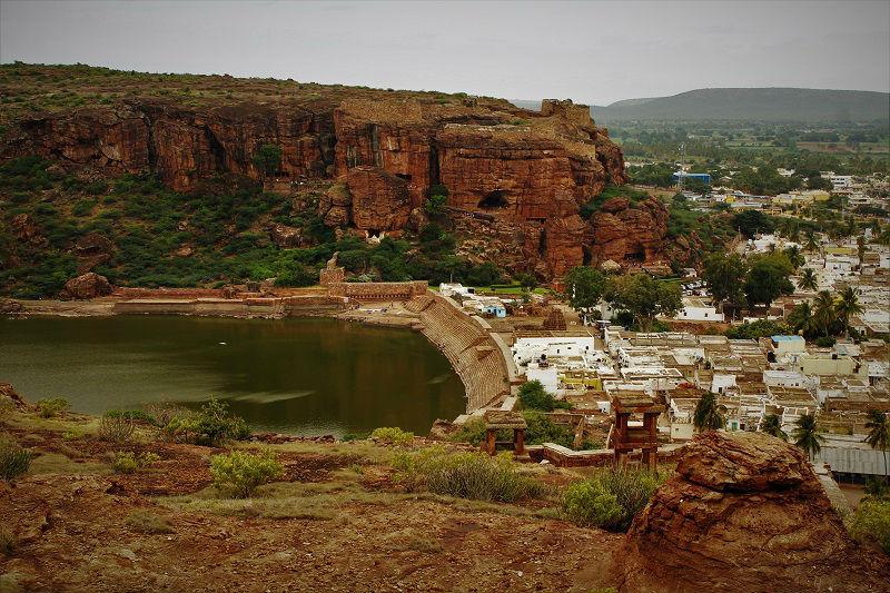 Agasthya Tirtha Lake Badami caves temple Karnataka