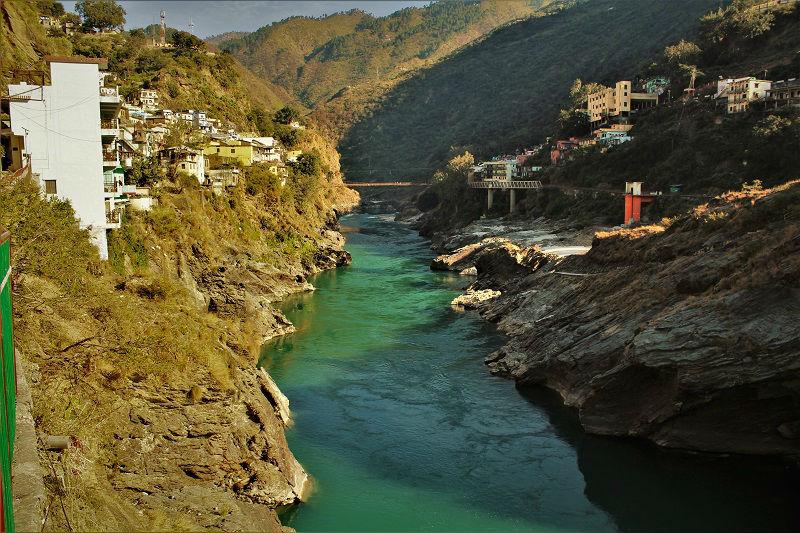 Alakhnanda river Devprayag Uttarakhand